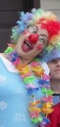 Ima2seven as a happy happy clown on Purim