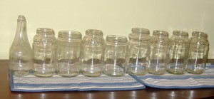 Jars glued together