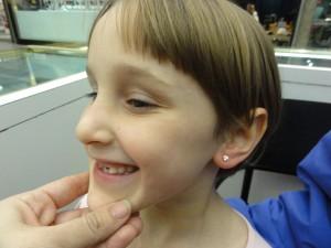 6 yo's newly pierced ear